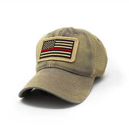 S.L. Revival Co. Firefighter Flag Hat, Drifter Grey