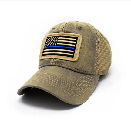S.L. Revival Co. Police Flag Hat, Drifter Grey