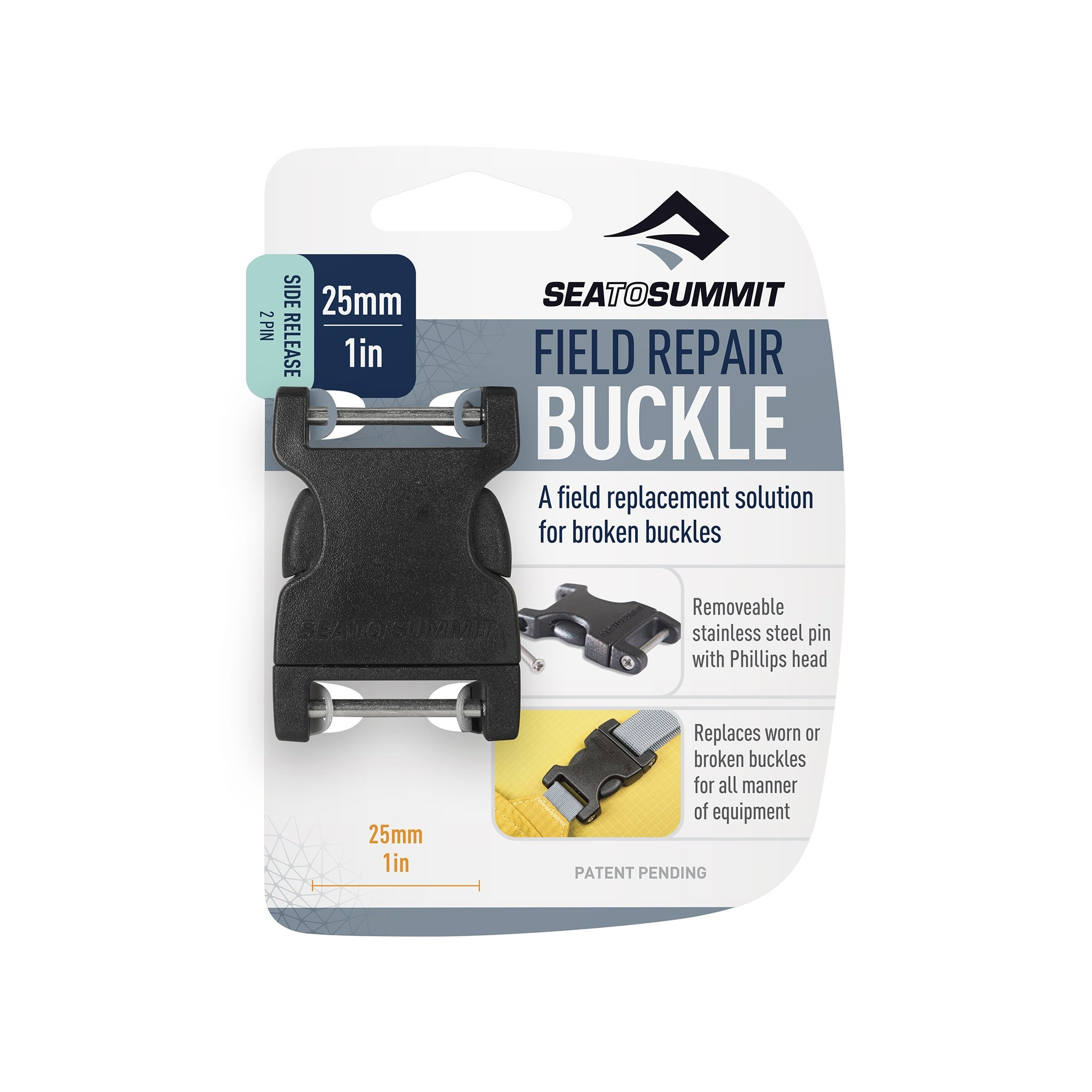 """Field Repair Buckle 25mm / 1"""" Side Release, 2 Pin-1"""