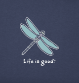 Life is Good W's Vintage Crusher, Classic Dragonfly, Darkest Blue