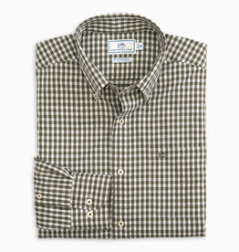 Southern Tide Centerline Gingham Intercoastal Shirt, Dark Sage