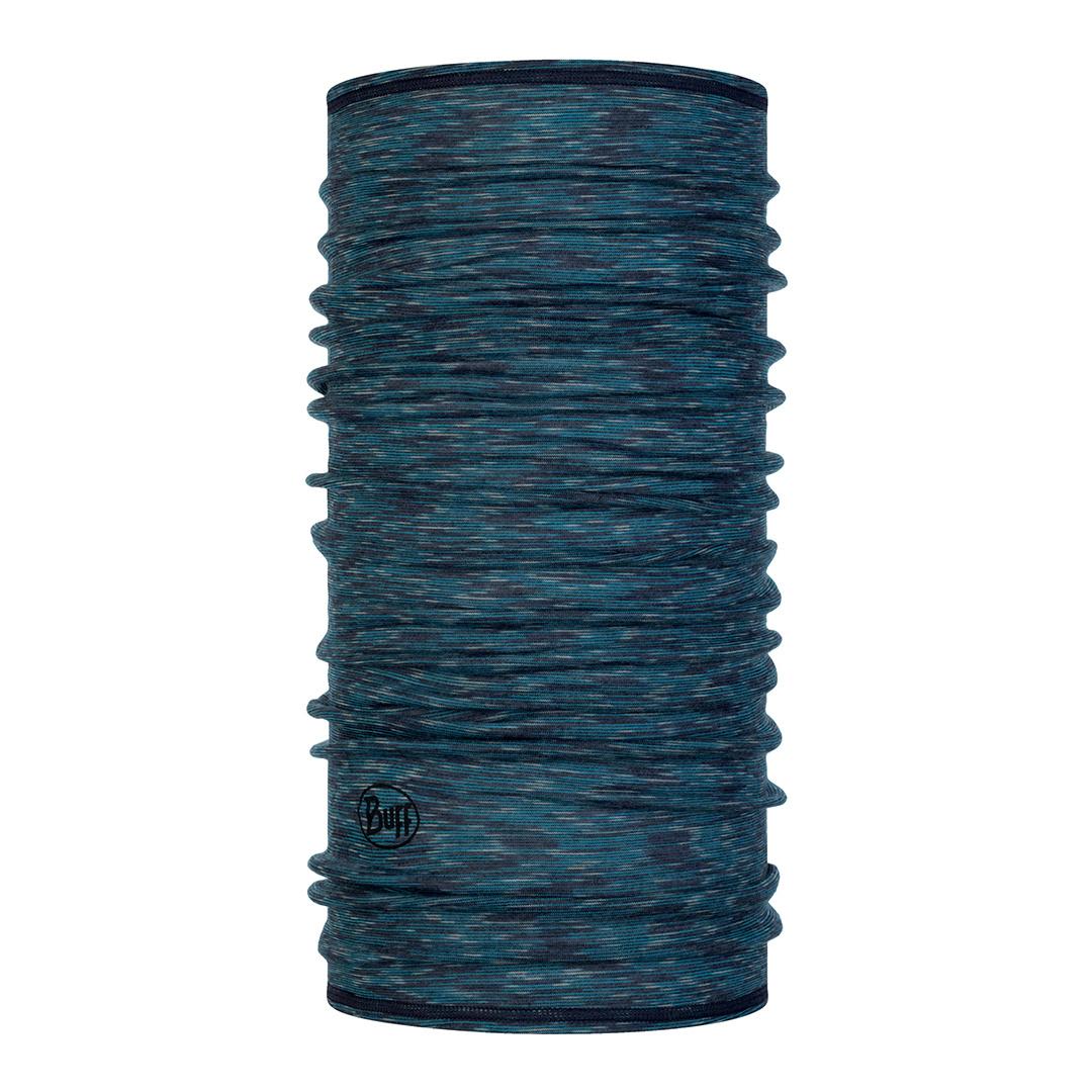 BUFF Lightweight Merino Wool Buff, Lake Blue Multi