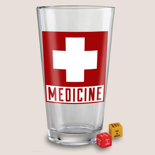 Pint Glass, Medicine-1