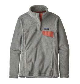 Patagonia W's Re-Tool Snap-T Pullover, Tailored Grey- Nickel X-Dye w/Aurea Pink