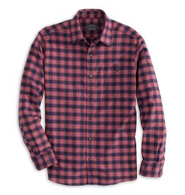 Fish Hippie M's Cape Island Check Shirt, Brick