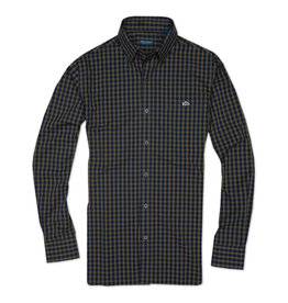 Fish Hippie M's Harlon Check Shirt, Gale Navy