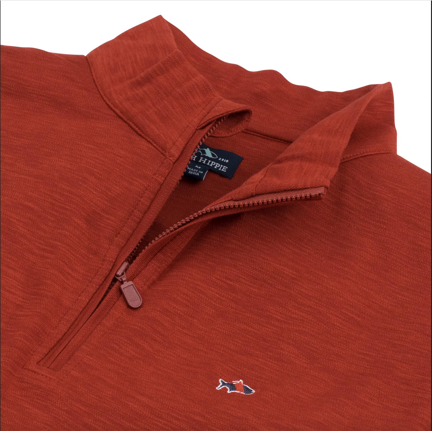 Fish Hippie M's Shad Point Pullover, Paprika