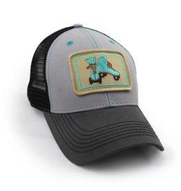 S.L. Revival Co. Vintage Roller Skates Trucker Hat, Structured, Grey