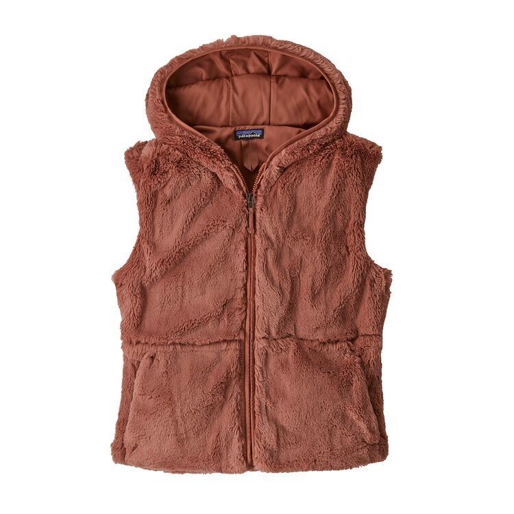 Patagonia W's Lunar Frost Hooded Vest, Century Pink