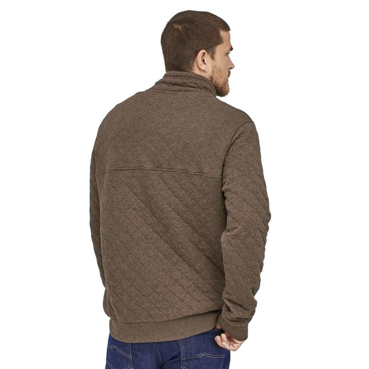 Patagonia M's Organic Cotton Quilt Snap-T Pullover, Logwood Brown