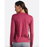 Tasc Performance W's St. Charles Crew Neck Long Sleeve Slub, Raspberry