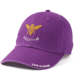 Life is Good Chill Cap, Bee Positive, Happy Plum