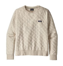 Patagonia W's Organic Cotton Quilt Crew, Dyno White