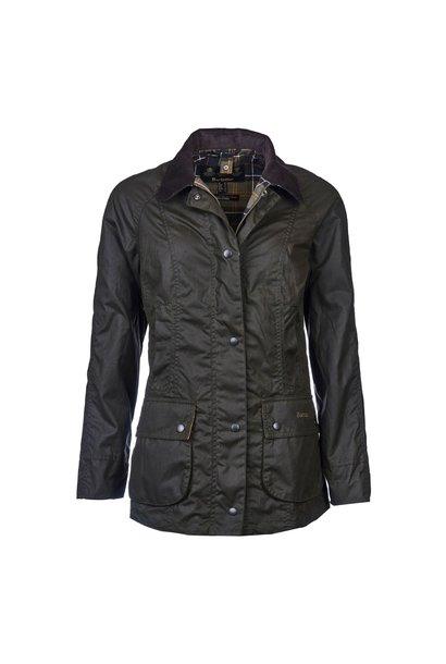 W's Classic Beadnell Wax Jacket, Olive