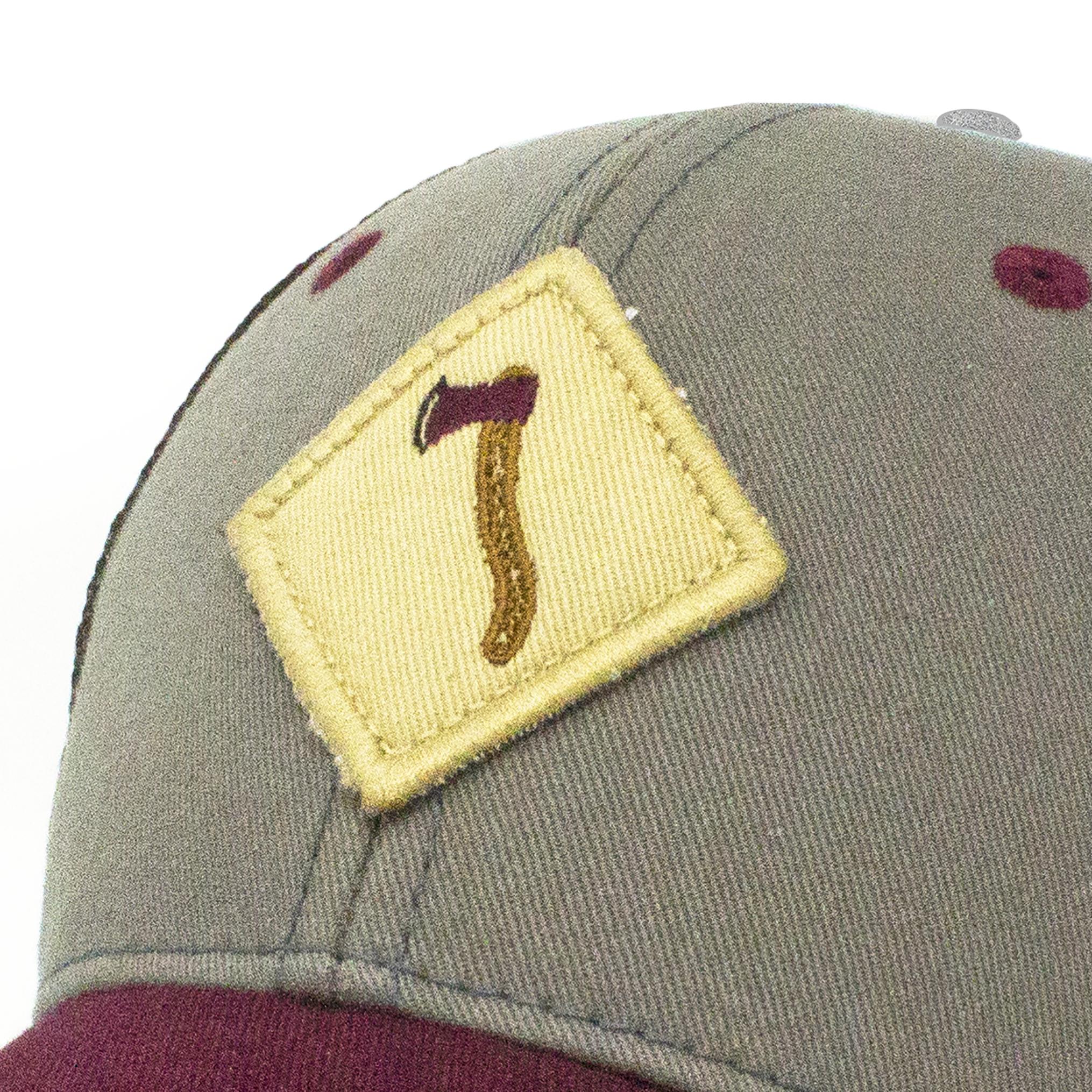 S.L. Revival Co. Axe Throwing Trucker Hat, Earl Grey