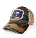 S.L. Revival Co. South Carolina Flag Trucker Hat, Camo