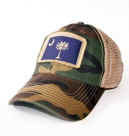 S.L. Revival Co. South Carolina Flag Trucker Hat, Camo