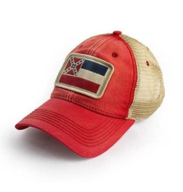 S.L. Revival Co. Mississippi Trucker Hat, Red