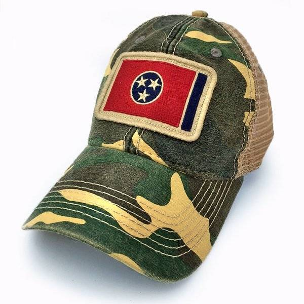 S.L. Revival Co. Tennessee State Flag Trucker Hat, Camo