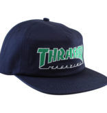 Eastern Skate Supply Thrasher Outlined Hat, Navy/Green