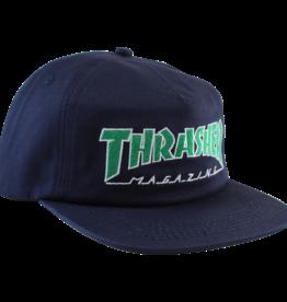 Eastern Skate Supply Thrasher Outlined Hat, Navy/Green
