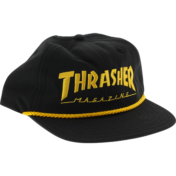 Eastern Skate Supply Thrasher Rope Hat ADJ-BLK/GOLD