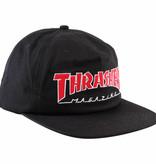 Eastern Skate Supply Thrasher Outlined Hat, Black/Red/White