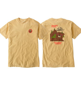 Eastern Skate Supply Habitat Skateboards Smokey Thanks Folks Yellow Men's Short Sleeve T-Shirt