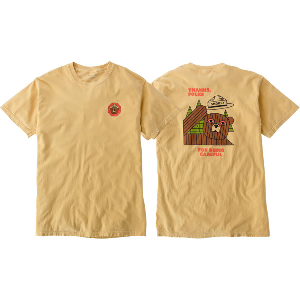 Eastern Skate Supply Habitat Skateboards Smokey Thanks Folks Yellow Men's Short Sleeve T-Shirt