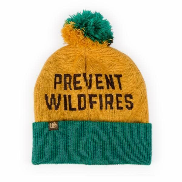 Eastern Skate Supply Habitat Skateboards Smokey Prevent Wildfires Pom Beanie