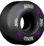 Eastern Skate Supply Bones Wheels 100's OG #12 V4 Black w/ Purple / White Skateboard Wheels - 55mm 100a (Set of 4)