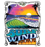 Surf, Wind and Fire SWF Sunset Ringer Tee, Off White