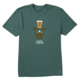 Life is Good Men's Crusher Tee Hoppy Camper, Spruce Green