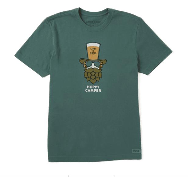 Life is Good Men's Crusher Tee Hoppy Camper, Spruce Green