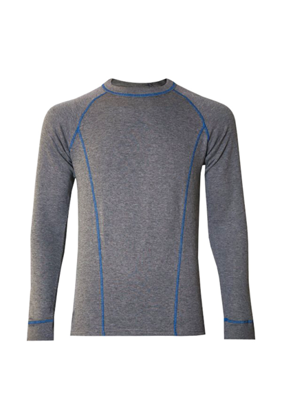 M's Double Layer L/S Base Layer, Grey
