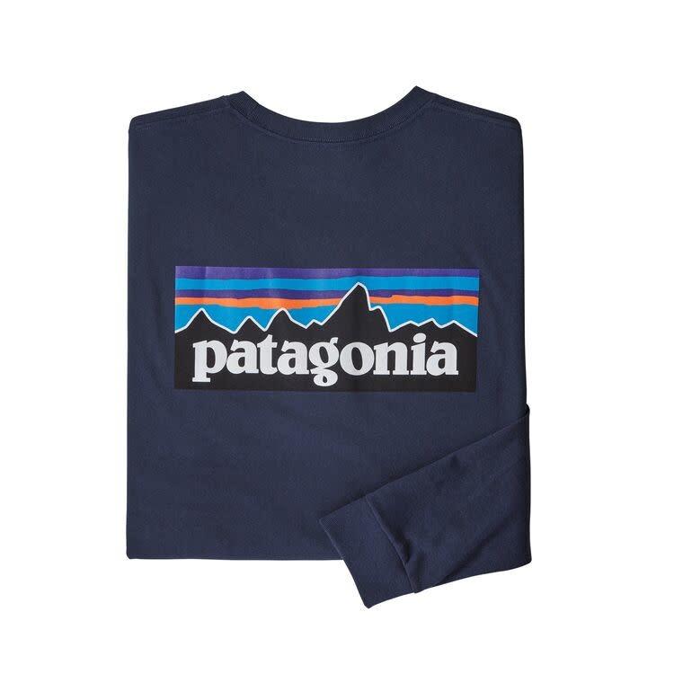 Patagonia M's L/S Line Logo Ridge Responsibili-Tee, Classic Navy