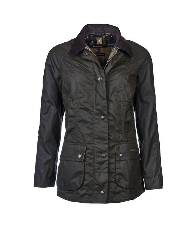 Barbour W's Classic Beadnell Wax Jacket, Olive