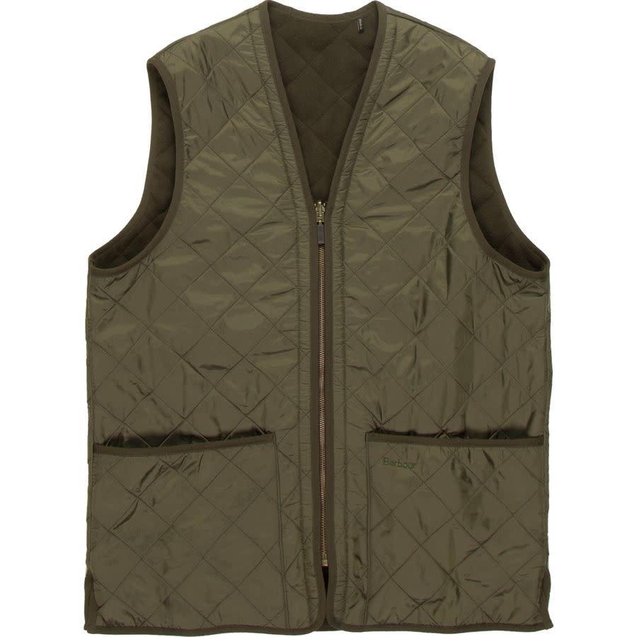 Barbour M's PolarQuilt Waistcoat/Zip-In Liner, Olive