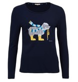 Barbour W's Oyster L/S Tee, Navy