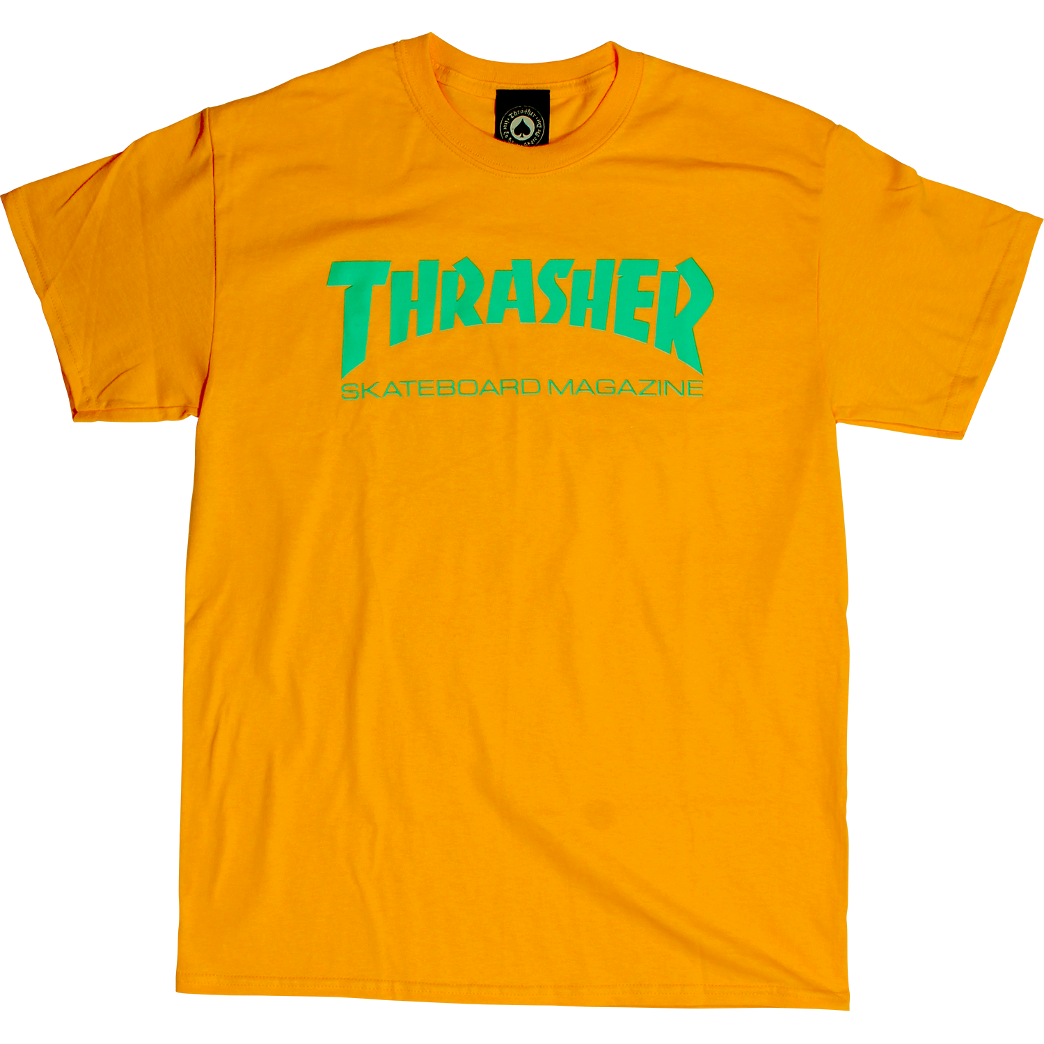 Eastern Skate Supply Thrasher Skate Mag T-Shirt, Gold/Teal