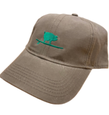 S.L. Revival Co. Waxed Cotton Surfing Pig Ball Cap, Sage/Green