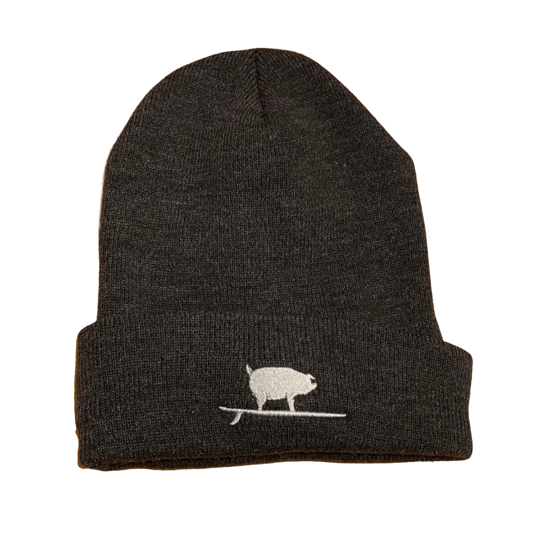 S.L. Revival Co. Surfing Pig Beanie, Charcoal