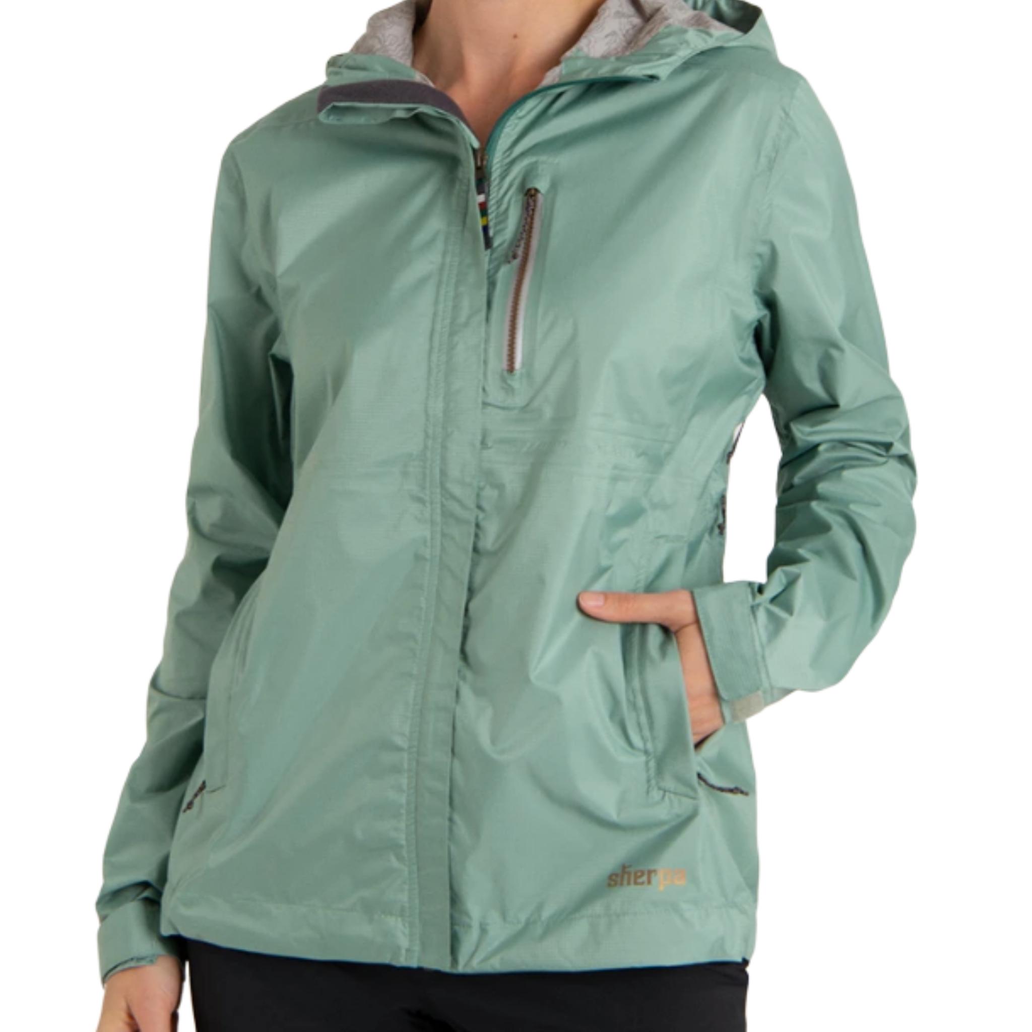 Sherpa Adventure Gear W's Kunde Waterproof 2.5-Layer Jacket, Mechi Green