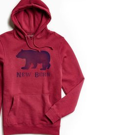 S.L. Revival Co. NB Bear Hoodie, Red