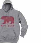 S.L. Revival Co. NB Bear Hoodie, Grey
