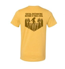 S.L. Revival Co. Social Distancing Sasquatch T-Shirt, S/S, Heather Mustard