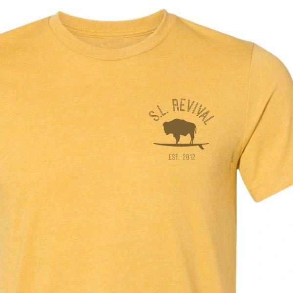 S.L. Revival Co. Social Distancing Sasquatch T-Shirt, S/S, Heather Mustard