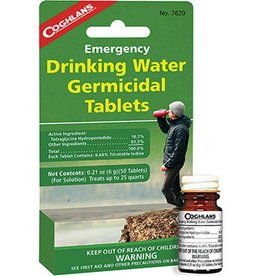 COGHLANS Emergency Drinking Water Germicidal Tablets