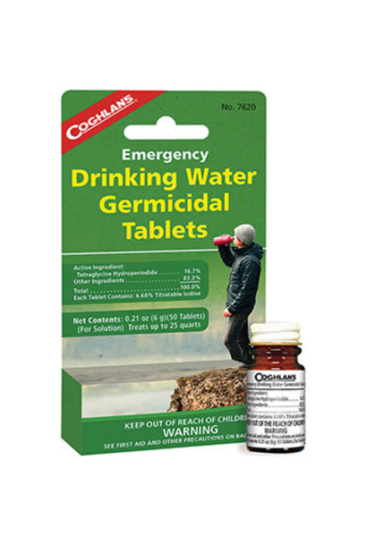 Emergency Drinking Water Germicidal Tablets