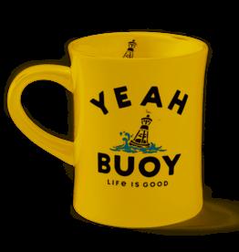 Life is Good Diner Mug Yeah Buoy, Baja Yellow